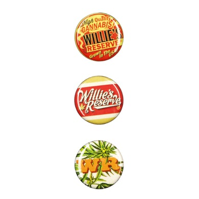 Willie's Reserve 3 Button Pin Set