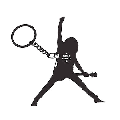 The Cult Black Key Chain-Sonic Temple Silhouette
