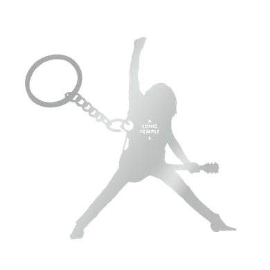 The Cult Sonic Temple Silhouette Silver Key Chain