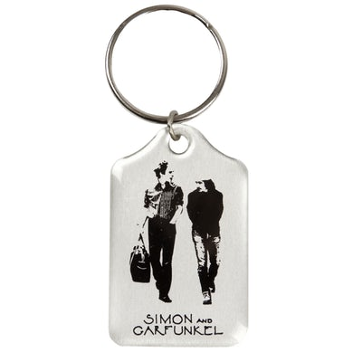 "Simon & Garfunkel Keychain-Old Friends Aluminum 1 3/8"" x 2 1/4"""