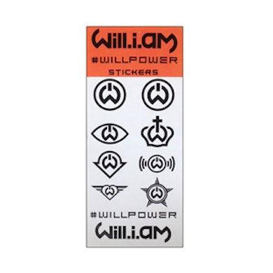 """Will.I.Am Sticker Set-""""#WILLPOWER"""""""