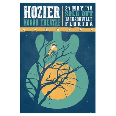 Hozier Poster-05/21/19 Jacksonville, FL