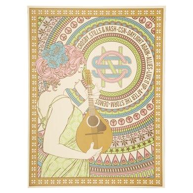 Crosby, Stills & Nash Poster-Album Titles/Mandolin