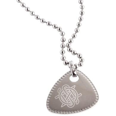 Crosby, Stills & Nash Pick Necklace-Silver Initials Guitar Pick