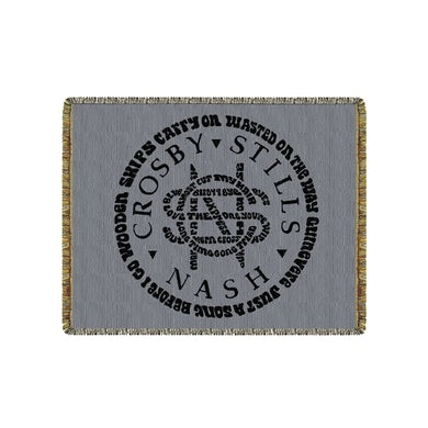 Crosby, Stills & Nash CSN Tapestry Blanket