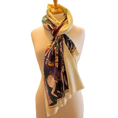 Wool Twill Scarf-Graceland Silk/100%