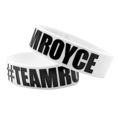 White Wristband-#TEAMROYCE Logo