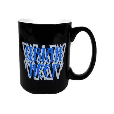 Uriah Heep Black/White Mug-Blue Logo-15 oz.