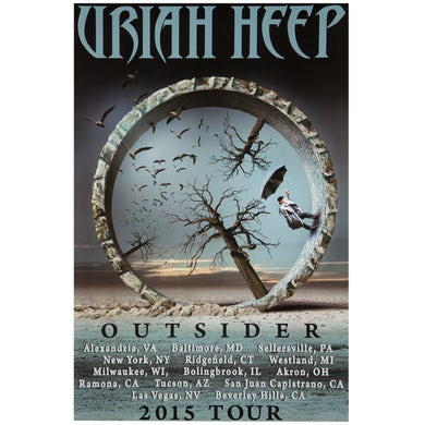 """Uriah Heep Poster-2015 """"Outsider"""" Tour"""