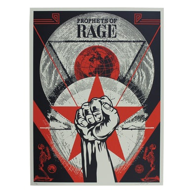 Prophets Of Rage Poster-Signed Shepard Fairey