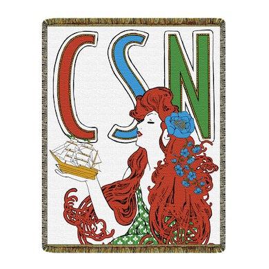 Crosby, Stills & Nash Tapestry Blanket-Wooden Ships