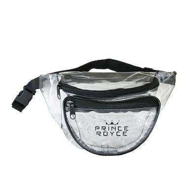 Prince Royce Clear/Black Fanny Pack-Crown Logo