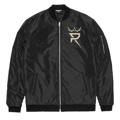 Prince Royce Black Bomber Jacket-Crown/Alter Ego Logo