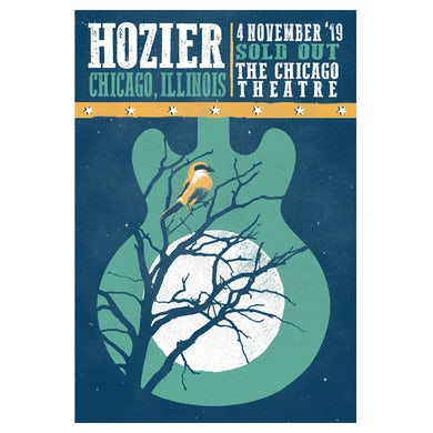 Hozier Poster-11/04/19 Chicago, IL
