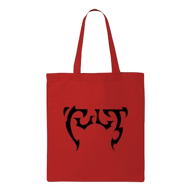The Cult Red Logo Tote Bag