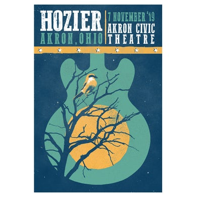 Hozier Poster-11/07/19 Akron, OH