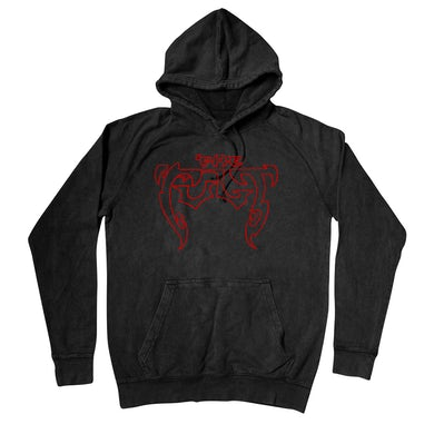 The Cult Black Pullover Hoodie-Outline Logo