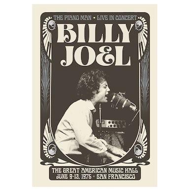"Billy Joel ""Great American Music Hall"" Poster PRE-ORDER"