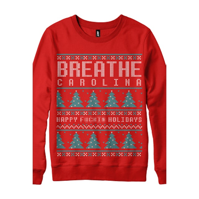 Breathe Carolina Happy Bleep Holidays Sweatshirt (Red)