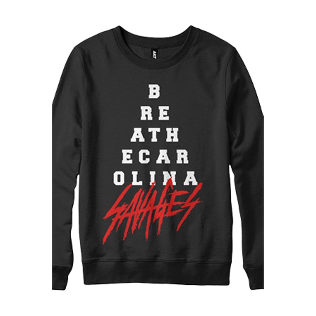 Breathe Carolina Pyramid Crewneck Sweatshirt (Black)
