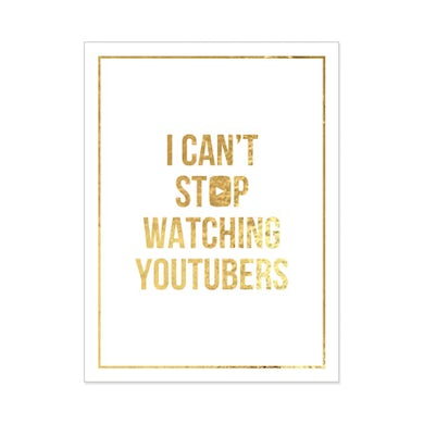 Tyler Oakley Signed Can't Stop Poster (Gold Foil on White 18x24)