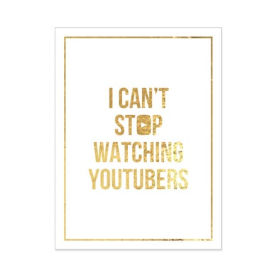 Tyler Oakley Can't Stop Poster (Gold Foil on White 18x24)