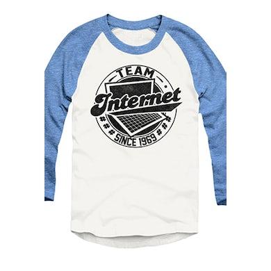 Tyler Oakley #TeamInternet Raglan (Light Blue)