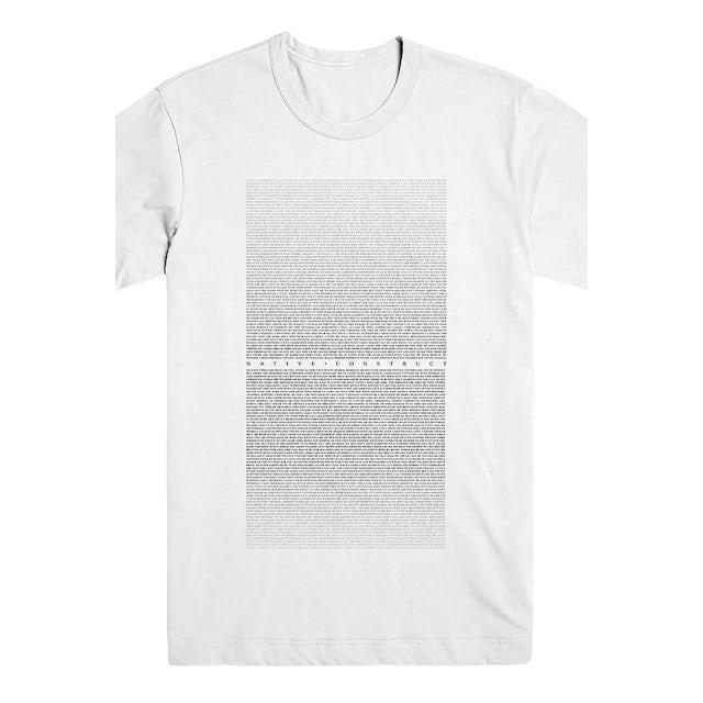 Native Construct Lyric Tee (White)