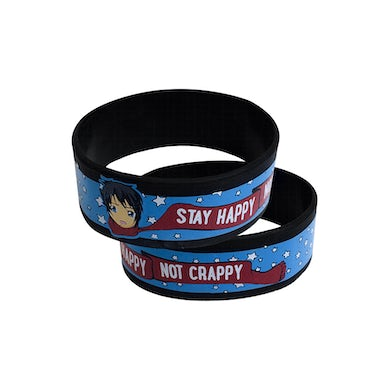 Johnnie Guilbert Stay Happy Not Crappy Wristband