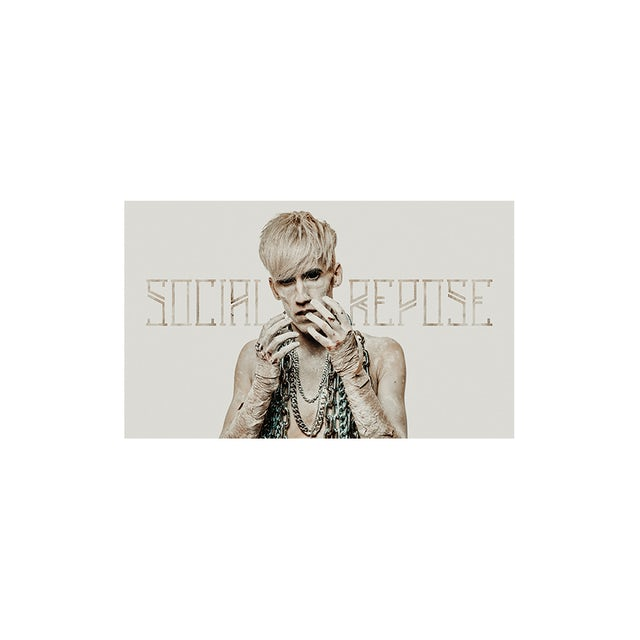 Social Repose Face Poster SIGNED