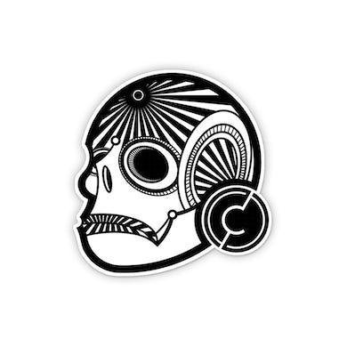 Citizen Zero Skull Die Cut Sticker 3in