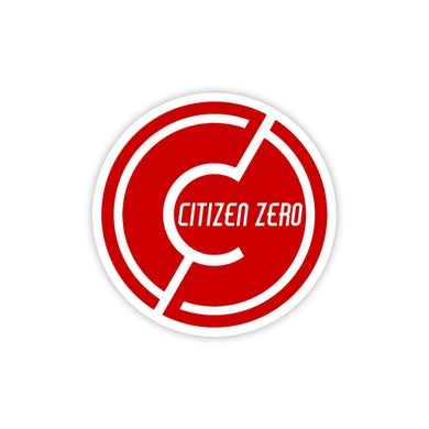 Citizen Zero CZ Circle Logo Sticker 3in
