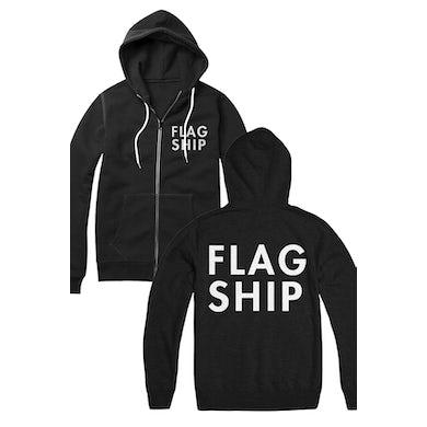 Flagship Logo Zip Up Hoodie (Black)