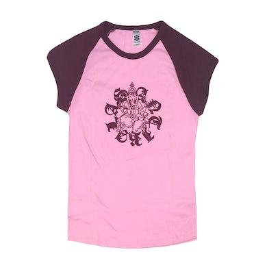Antibalas Womens Ganesh Cap Raglan Tee (Pink)