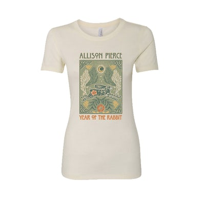 Allison Pierce Rabbit Womens Tee (Ivory)