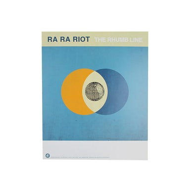 Ra Ra Riot  The Rhumb Line Double Sided Poster