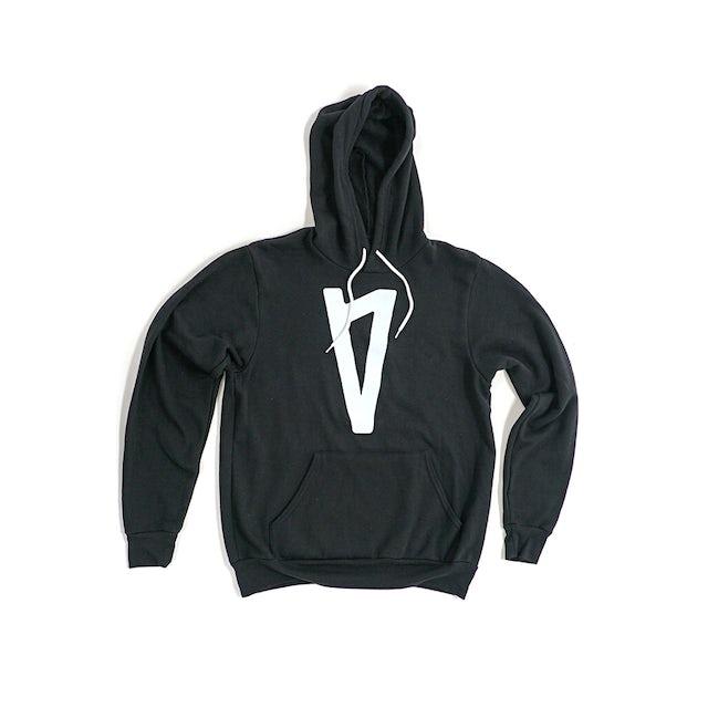 Lauv V Logo Pullover Hoodie (Black)