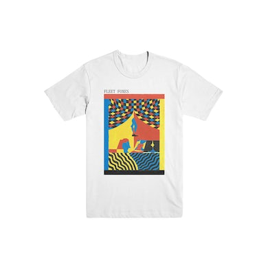Fleet Foxes Candle Painting Tee - White