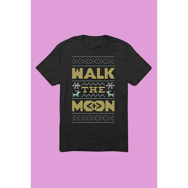 Walk The Moon Holiday Sweater T-Shirt (Black)