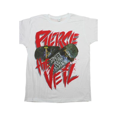 Pierce The Veil Street Youth Skateboard Tee (White)