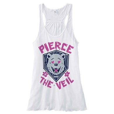 Pierce The Veil Bear Girls Racerback (White)