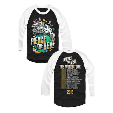 Pierce The Veil RV Tour Raglan (Black/White)