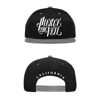 Pierce The Veil PTV Logo Snapback (Grey/Black)