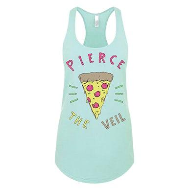 Pierce The Veil Hipster Pizza Racerback Tank (Mint)