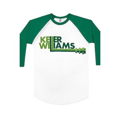 Keller Williams Logo Baseball Raglan (White/Green)