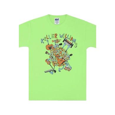 Keller Williams One Man Band Kids Tee (Neon Green)