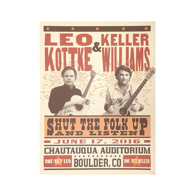 Keller Williams Keller & Leo Chautauqua Poster (Signed)