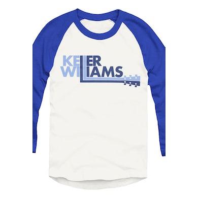 Keller Williams Logo Baseball Raglan (White/Blue)