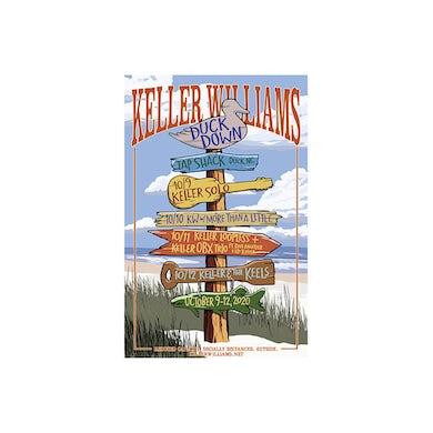 Keller Williams Duck Down 2020 16 x 22 Silk Screened Poster Signed by Keller
