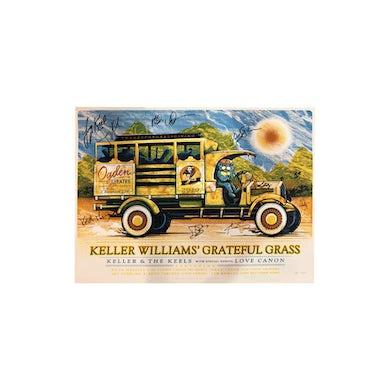 Keller Williams Denver Grateful Grass Poster 2019 Signed Poster